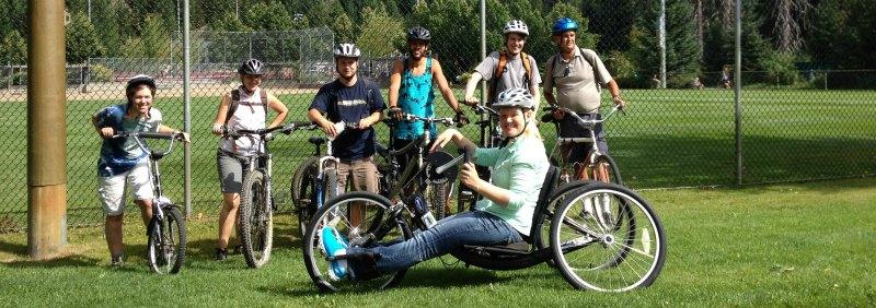 Biking & hand-cycling with Whistler Adaptive
