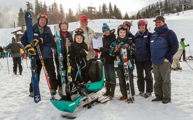 Sit-skiers & standing skiers enjoy winter in Whistler
