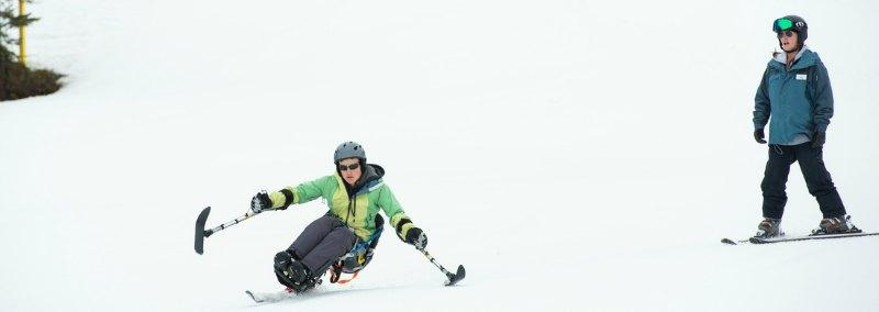 Learning to sit-ski with Whistler Adaptive instructors