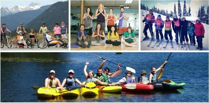 Whistler Adaptive Sport Academy bikes, hand-cycles, skis, kayaks & practices yoga