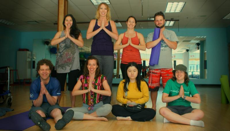 Weekly yoga practice for Whistler Adaptive athletes